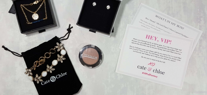 Cate & Chloe VIP Jewelry Subscription Box Review and Coupon – October 2016