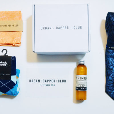 Urban Dapper Club Subscription Box September 2016 Review + Coupon
