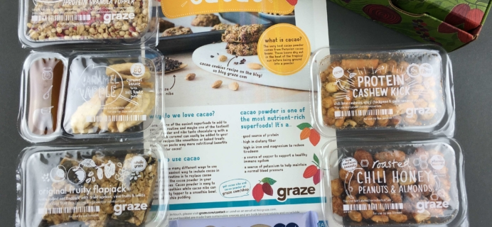 Graze November 2016 Subscription Box Review & Free Box Coupon