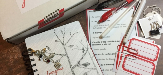Holly Journals September 2016 Subscription Box Review + Coupon