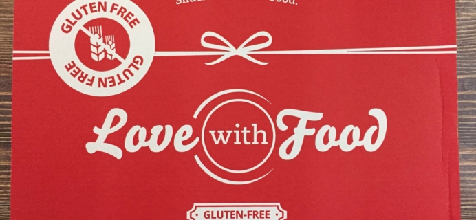 Love With Food Gluten-Free October 2016 Subscription Box Review + Coupon