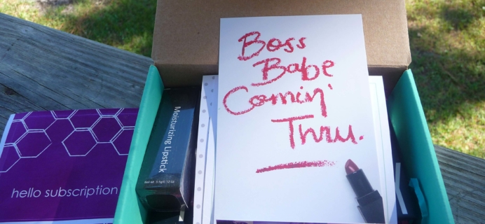 Beauty Box 5 October 2016 Subscription Box Review & Coupon – Boss Babe Comin' Thru
