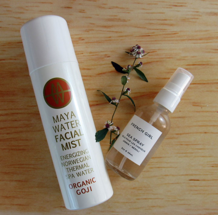 Maya Water Facial Mist and French Girl Organics Sea Spray