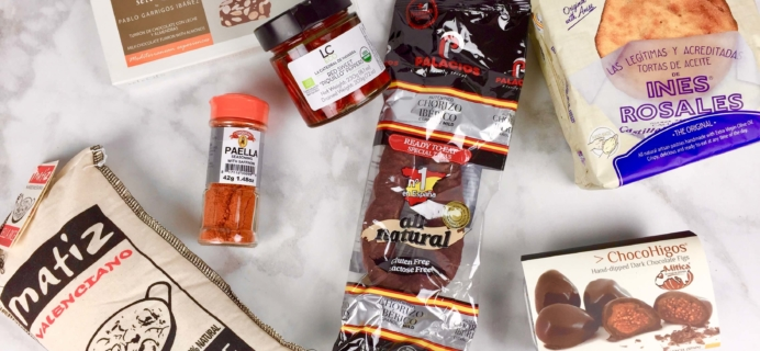 October 2016 Yummy Bazaar Full Experience Subscription Box Review – Spain