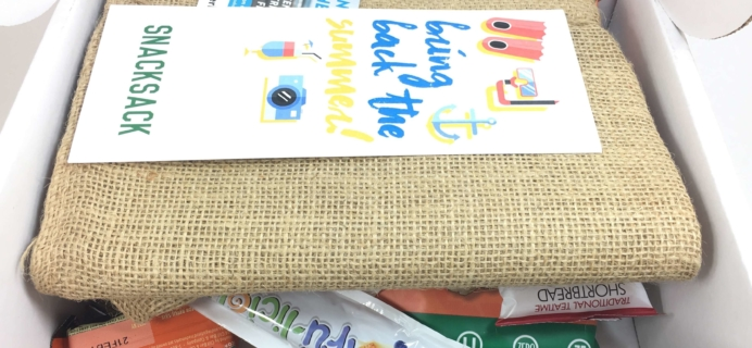 Snack Sack September 2016 Subscription Box Review & Coupon