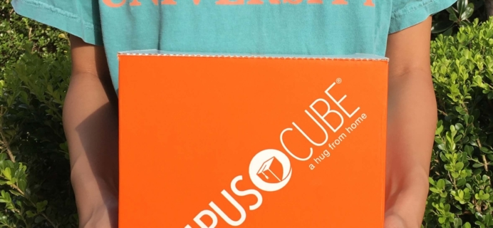 CampusCube College Care Package October 2016 Subscription Box Review+ Coupon – Girls!
