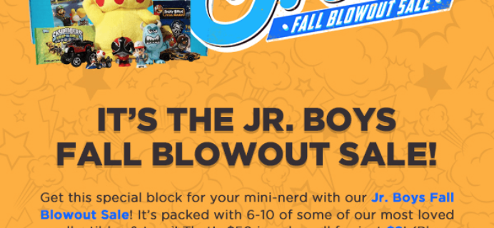 Nerd Block Jr. Fall Blowout Sale Available Now!