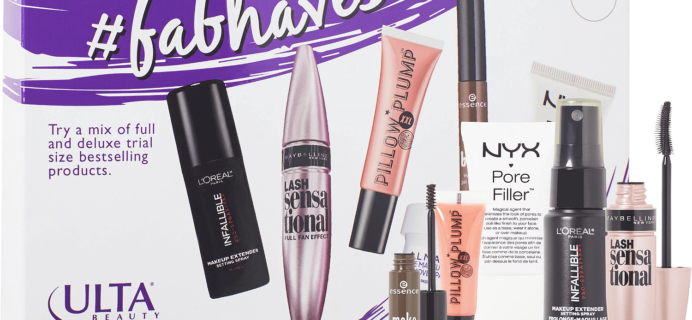 Ulta #FabFaves and #LashtagGorgeous $15 Sample Kits Available Now!