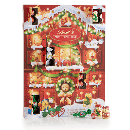 A Charming Christmas Countdown Sure To Be Hit With Children Of All Ages Hidden Treats Include Miniature Lindt Bear And Friends Foil Wred Milk