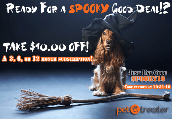 Pet Treater Coupon: Save $10 on 3+ Month Subscription!