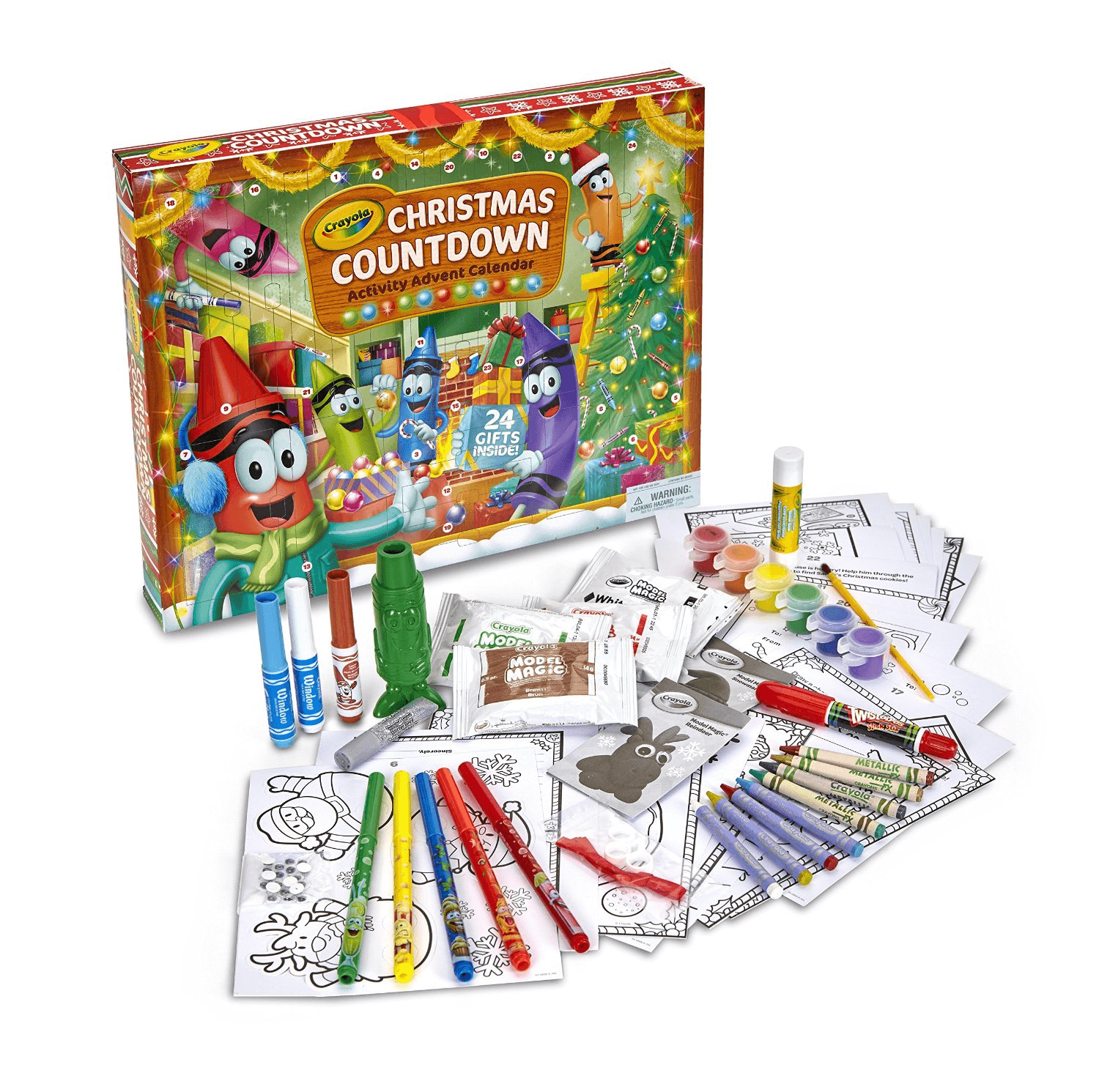 Crayola Christmas Countdown Activity Advent Calendar 30% Off TODAY ONLY!