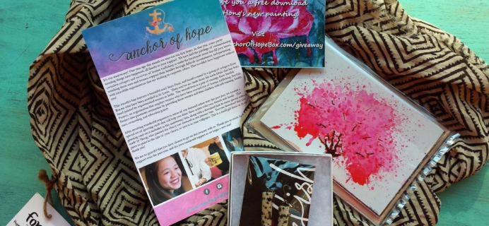 Anchor of Hope Subscription Box Review – November 2016
