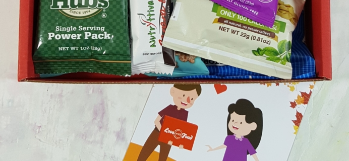 November 2016 Love With Food Subscription Box Review + Coupons