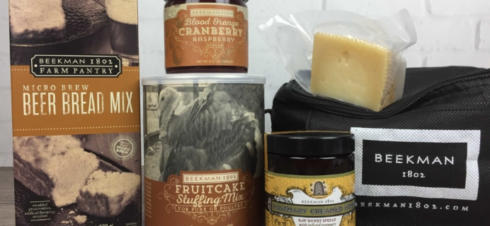 Beekman 1802 Specialty Food Club November 2016 Subscription Box Review
