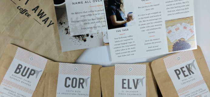 Drift Away Coffee Subscription Review – October 2016