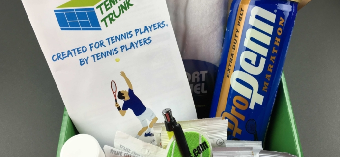 Tennis Trunk November 2016 Subscription Box Review & Coupon