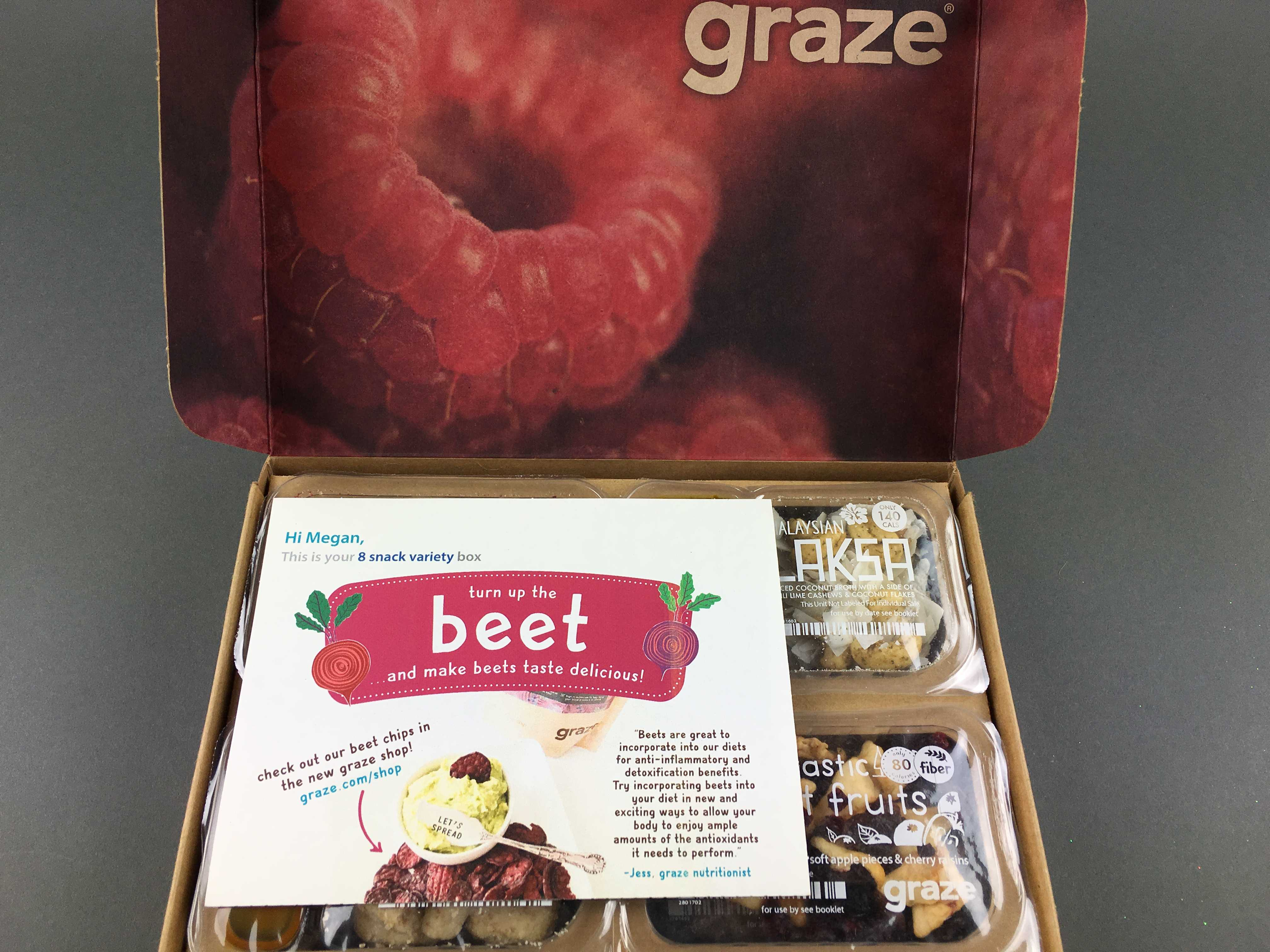 December 2016 Graze Subscription Box Review & Free Box Coupon