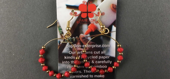 Fair Trade Friday Earring of the Month November 2016 Subscription Box Review