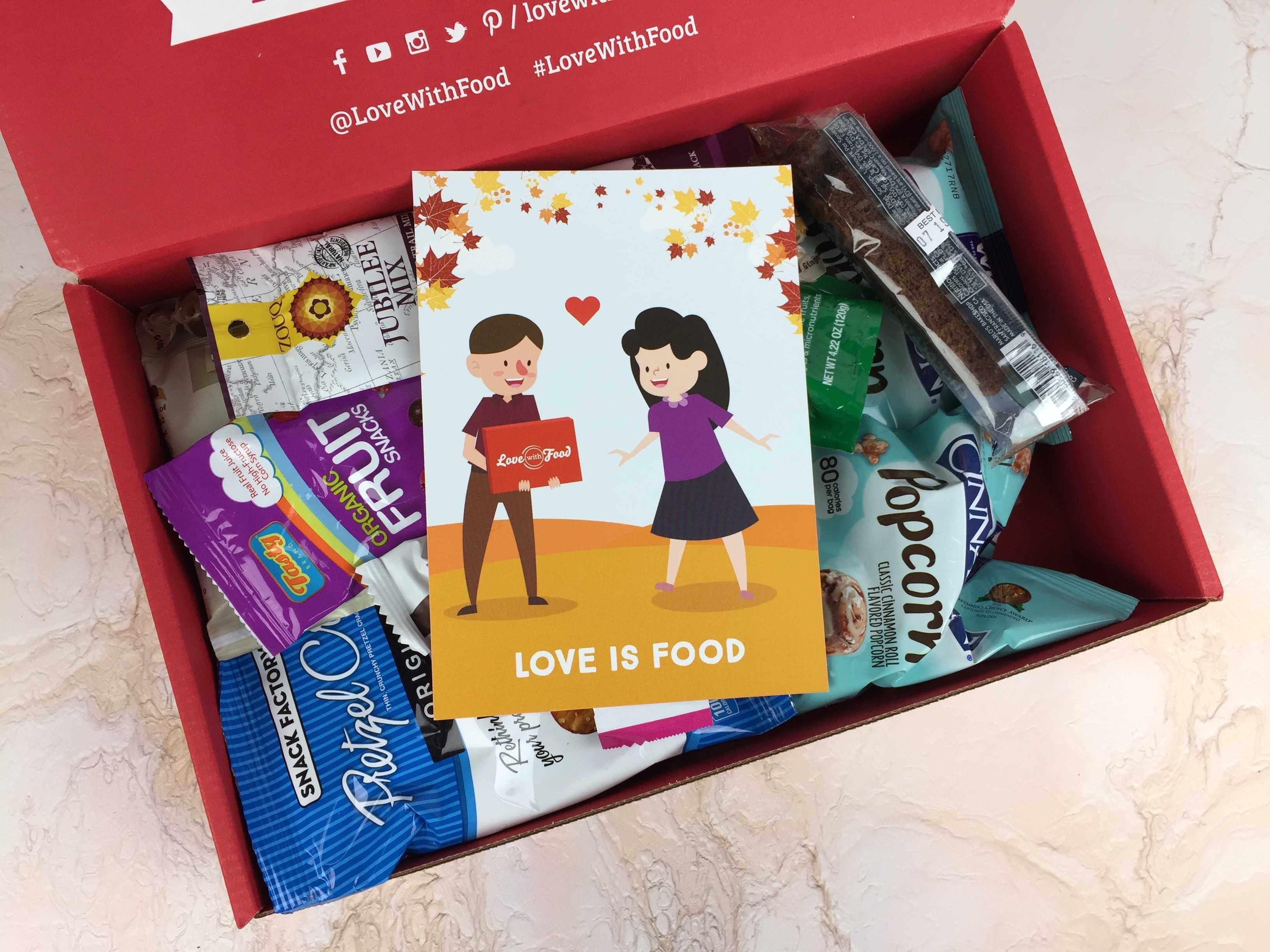 Love With Food November 2016 Deluxe Box Review + Coupon