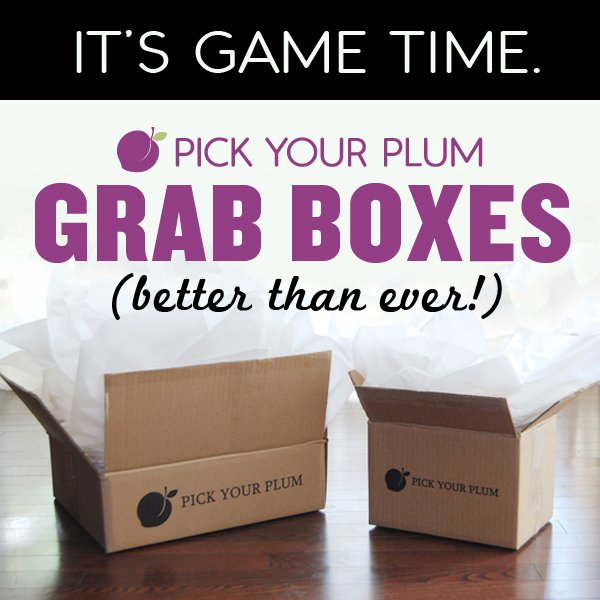 Pick Your Plum Grab Box: Available NOW in Two Sizes! + Coupon!