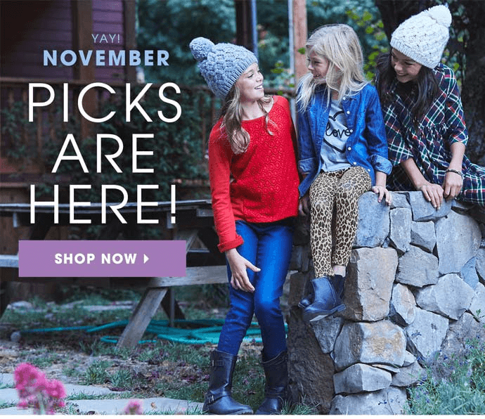 FabKids November 2016 Collection + First Outfit $9.95!