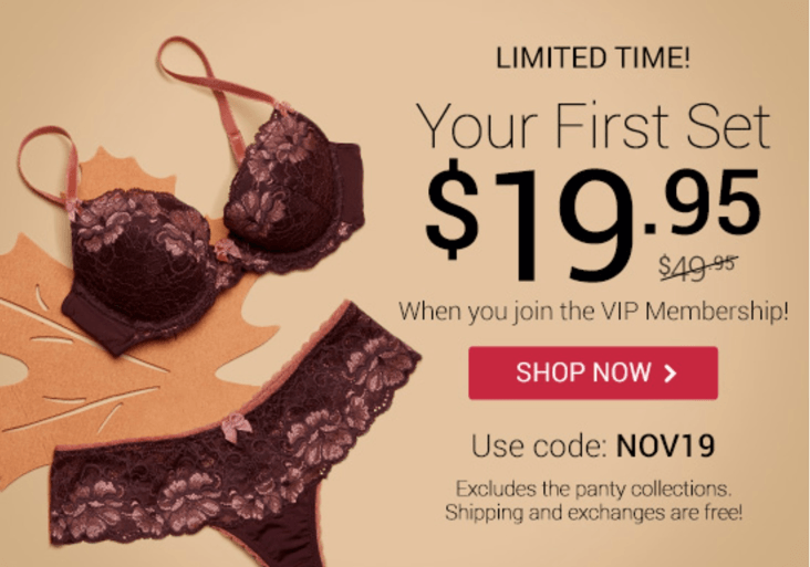 New Adore Me Coupon – First Month $19.95!