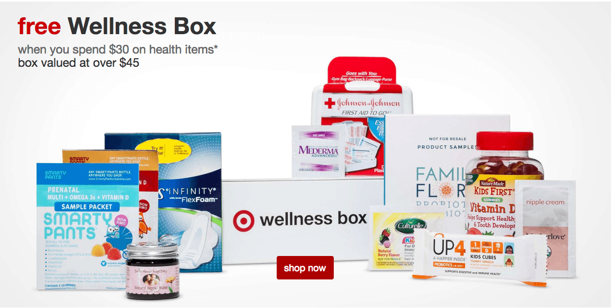 $10 Target Family Wellness Box Available Now – free with purchase!