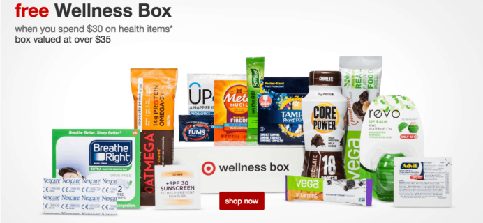 $10 Target Wellness Box Nutrition Available Now – free with purchase!