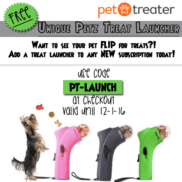 Pet Treater Coupon: Free Treat Launcher With Subscription!