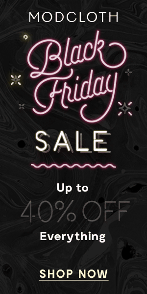 Modcloth Black Friday Sale: Up to 40% Off!