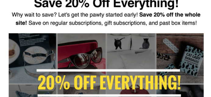 Cat Lady Box Pre Black Friday Deal – 20% Discount on All Subscriptions!
