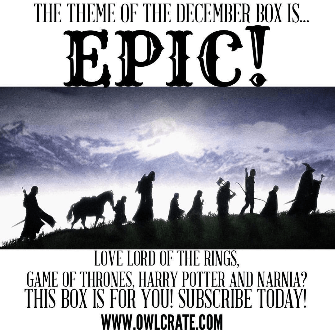 OwlCrate December 2016 Box Available to Order + Spoilers + Coupon!