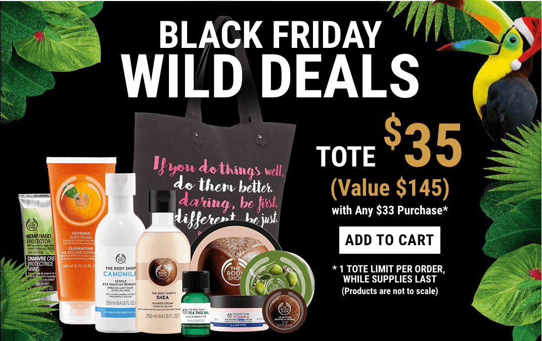 The Body Shop Black Friday 2016 Tote Available NOW + Advent Calendars Price Drop!
