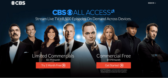 CBS All Access Streaming Video Subscription Cyber Monday Sale: Try a month FREE!