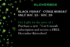 Kloverbox Cyber Monday Subscription Box Deal: FREE Box with 3+ Month Subscription!