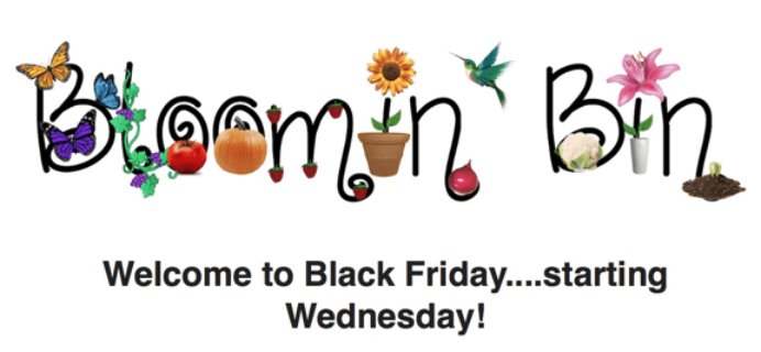 Bloomin' Bin Cyber Monday Deals! Save on a Gardening Subscription Box!