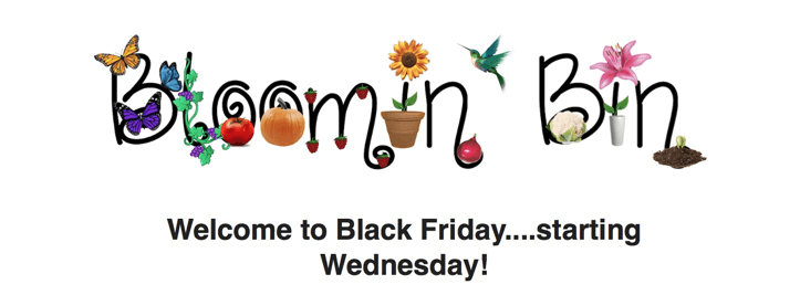 Bloomin' Bin Black Friday Deals! Save on a Gardening Subscription Box!