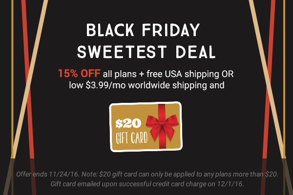 LAST CALL! Love With Food Black Friday Deals: 15% Off All Subscriptions + GIFT CARD