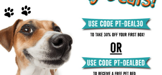 Pet Treater Black Friday Coupons: Free Pet Bed Deal or 30% Off First Box!