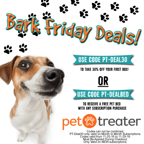 Pet Treater Cyber Monday Coupons: Free Pet Bed Deal or 30% Off First Box!