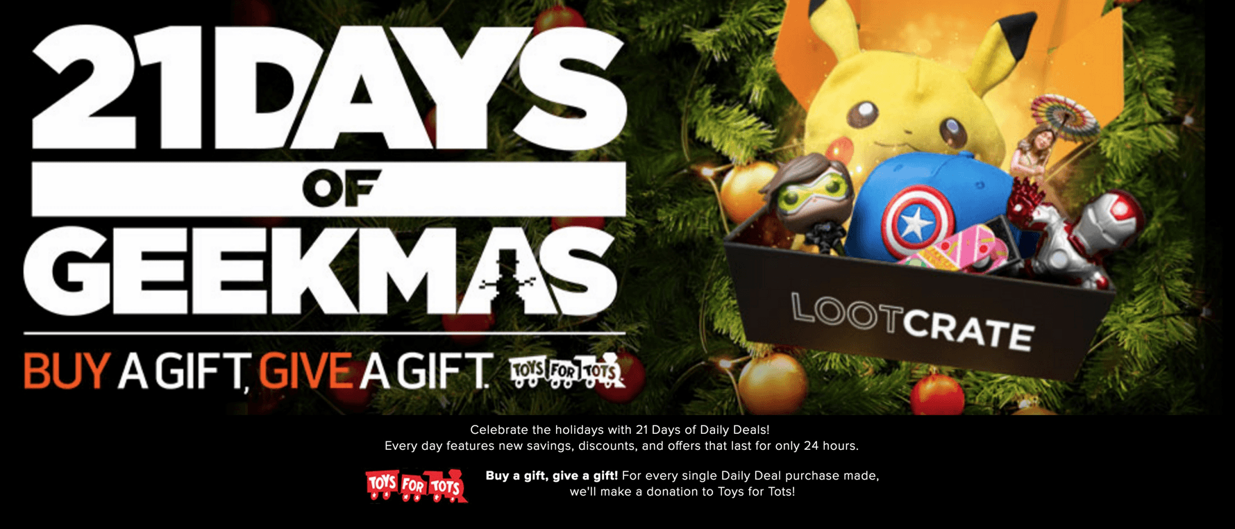 Loot Crate Geekmas Deal: 20% Off Marvel Gear+Goods & Gears of War 4 Crate!