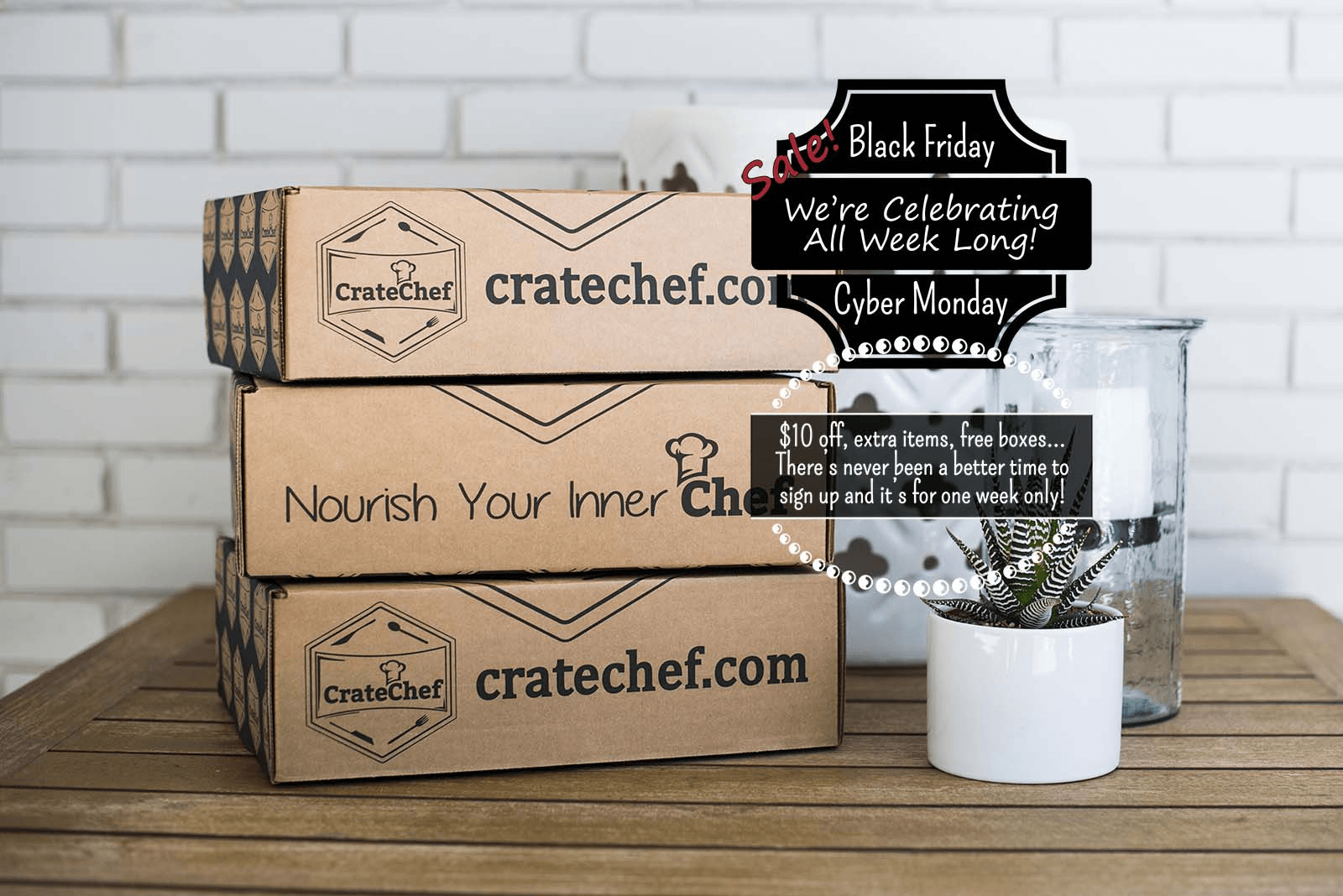 CrateChef Cyber Monday Subscription Box Deals: $10 off, Extra Items, or Free Box!