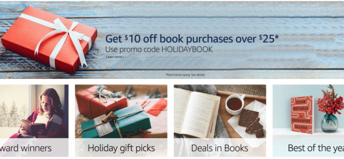 Amazon.com Black Friday Deal! $10 Off Any Book Purchase $25+