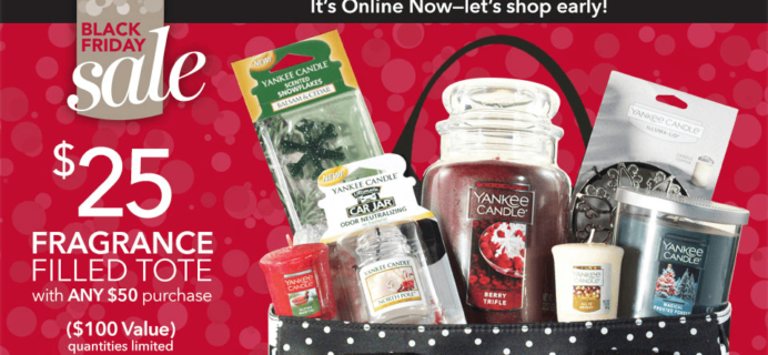 Yankee Candle Black Friday Tote Available Now! $25 With $50 Purchase!