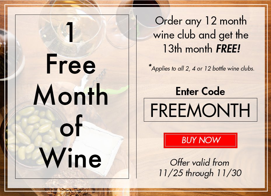 PLONK Wine Club Cyber Monday Deal – Free Month With Subscription!