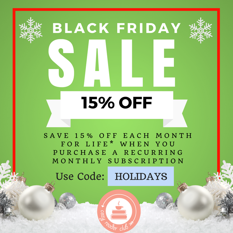 Cozy Reader Club Black Friday Deal – 15% Off For Life!