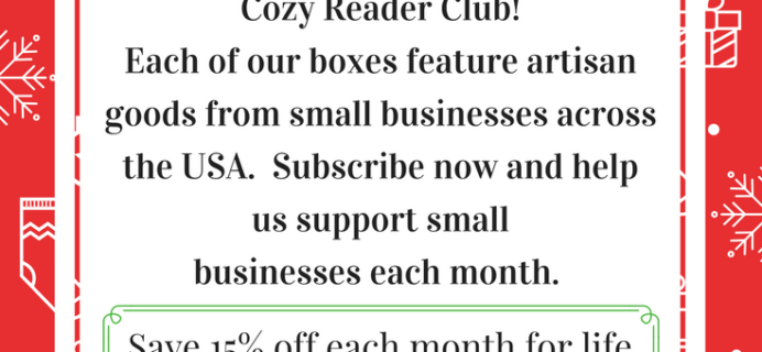 Extended! Cozy Reader Club Cyber Monday Deal – 15% Off For Life!
