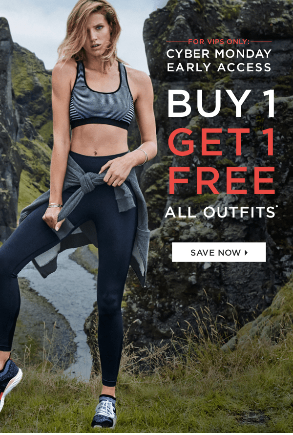 Fabletics Cyber Monday Early Access: VIPs Get BOGO (and New Members First Outfit $15!)