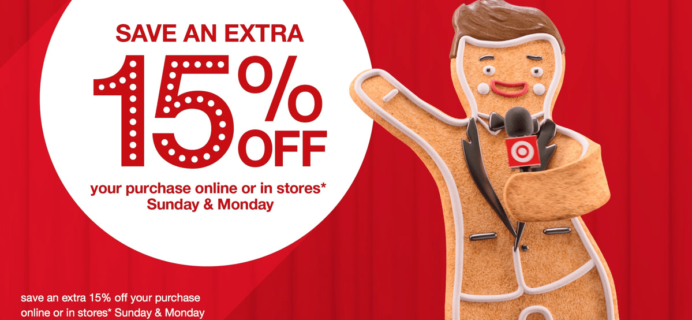 Target Cyber Monday Deal: Save 15% On Everything!
