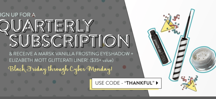 Beauty Box 5 Cyber Monday Deal – Free Eyeshadow & Eyeliner Set